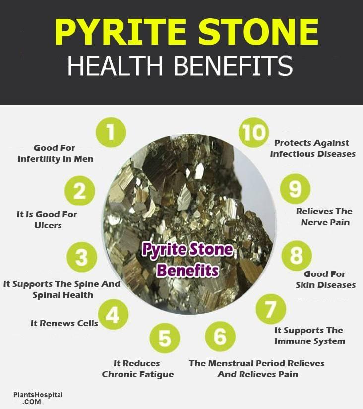 pyrite stone infographic